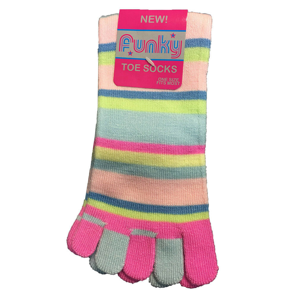 Ladies Stripey Toe Socks