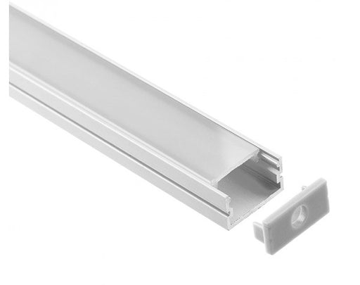 1M A014 ALUMINIUM EXTRUSION WIDE SURFACE MOUNT KIT - LEDLIGHTMELBOURNE