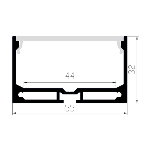 1M A5532 BLACK EXTRUSION DEEP SURFACE MOUNT KIT - LEDLIGHTMELBOURNE