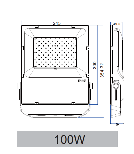 100W SLIMLINE SMD LED FLOOD LIGHT