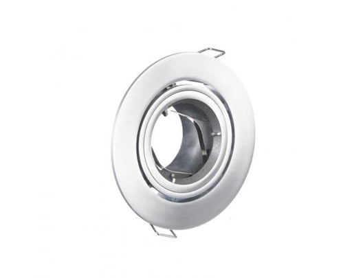 90MM GIMBAL CHROME SILVER ROUND DOWNLIGHT FITTING - LEDLIGHTMELBOURNE
