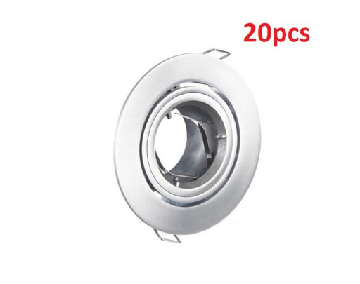 20PCS 90MM GIMBAL CHROME SILVER ROUND FITTING