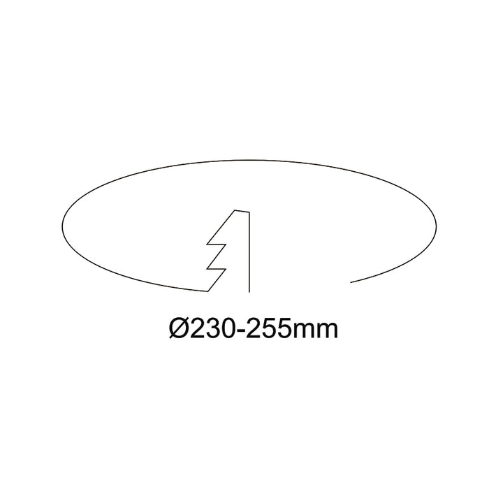 50W 230-255MM CUTOUT HIGH LUMIN DOWNLIGHT (DL5009-TC)