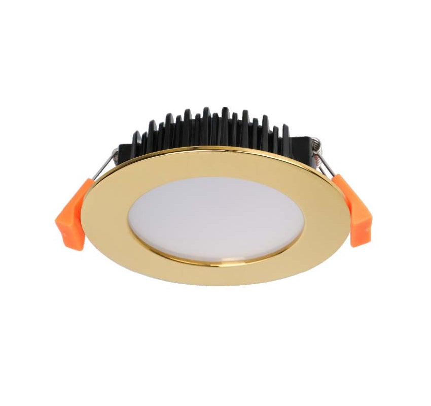 13W 90MM CUTOUT GOLDEN FITTING LED DOWNLIGHT (DL1262-TC-GD) - LEDLIGHTMELBOURNE