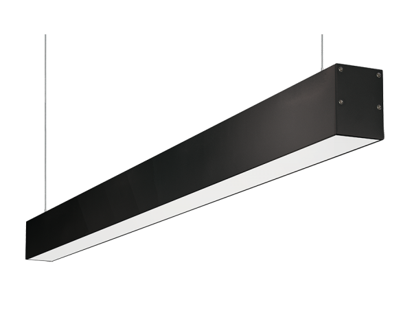 1M A5575 BLACK ALUMINIUM SUSPENSION/SURFACE  MOUNT - LEDLIGHTMELBOURNE