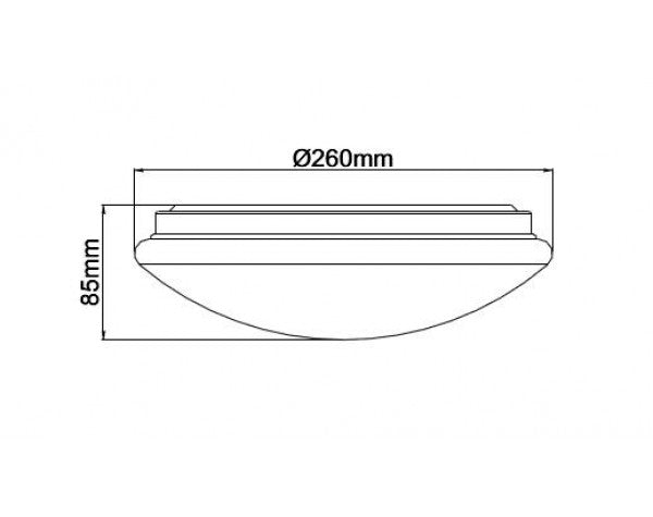 15W Ø260MM LED CEILING OYSTER LIGHT (AC1011-TC) - LEDLIGHTMELBOURNE