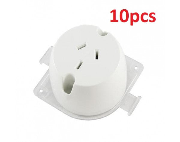 10PCS SURFACE MOUNT PLUG BASE SOCKET - LEDLIGHTMELBOURNE