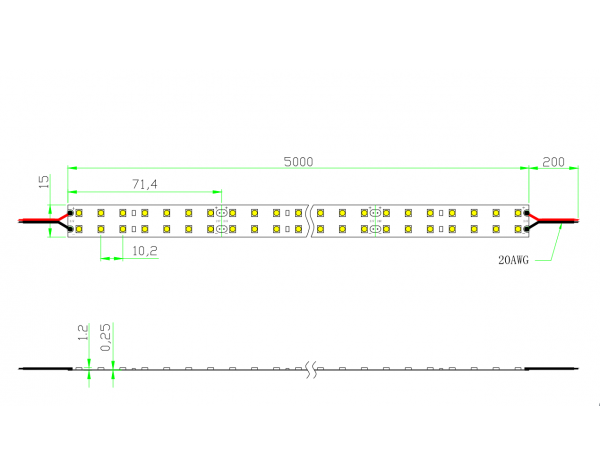 5M DC24V 20W WIDE BOARD IP20 STRIP - LEDLIGHTMELBOURNE