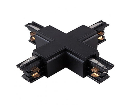4 WIRE SURFACE 'X' TRACK JOINER, BLACK - LEDLIGHTMELBOURNE