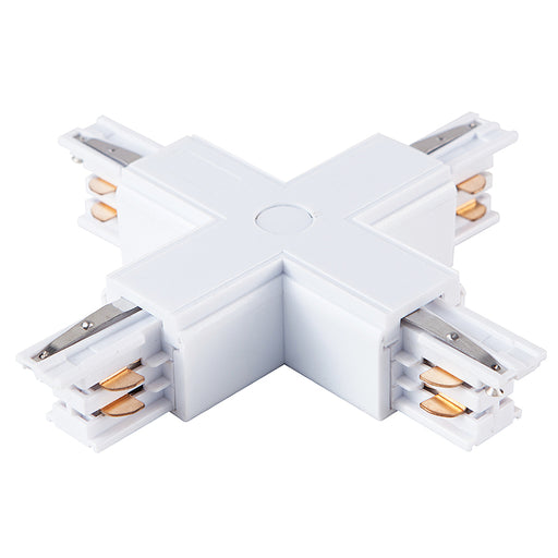 4 WIRE SURFACE 'X' TRACK JOINER, WHITE - LEDLIGHTMELBOURNE