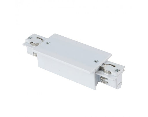 4 WIRE RECESSED LIVE TRACK JOINER - WHITE
