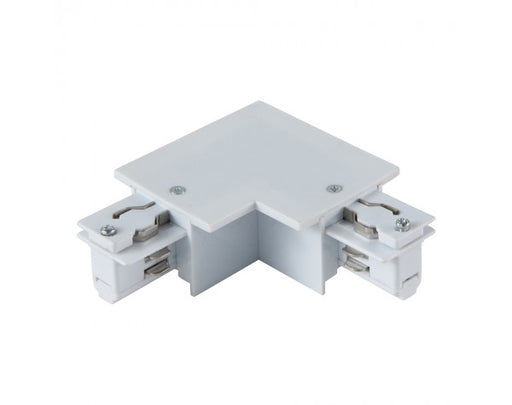 4 WIRE RECESSED 'L' TRACK JOINER - LEFT, WHITE