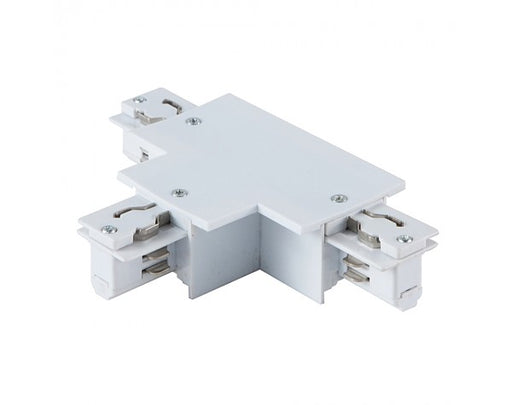 4 WIRE RECESSED 'T' TRACK JOINER - LEFT, WHITE