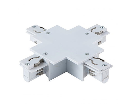 4 WIRE RECESSED 'X' TRACK JOINER, WHITE
