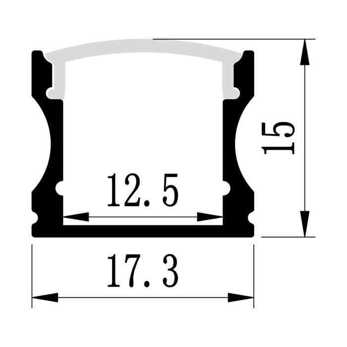 1M A004 BLACK EXTRUSION SURFACE MOUNT KIT - LEDLIGHTMELBOURNE