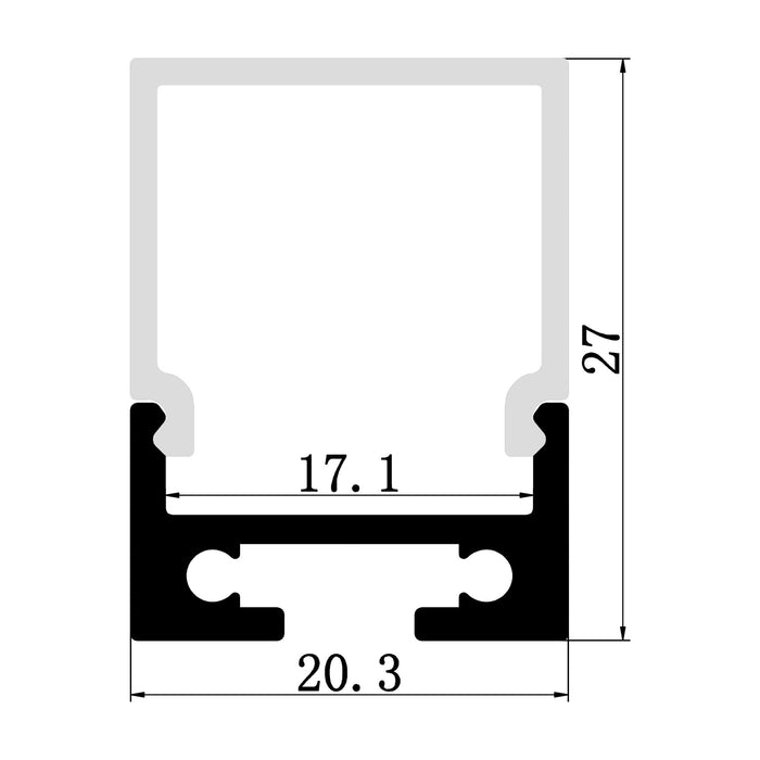 1M A1604 SURFACE WITH EXTRA HEIGHT PROFILE KIT