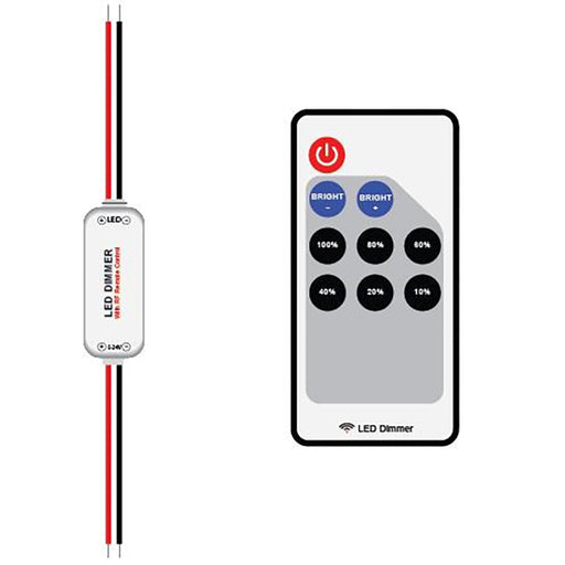 RF DIMMER CONTROLLER KIT - SINGLE COLOUR STRIP -1 ZONE - LEDLIGHTMELBOURNE