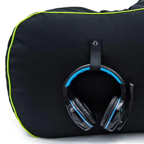 loft 25 gaming bean bag close up headset strap