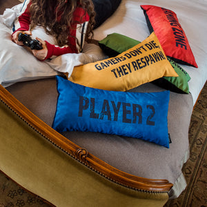 Gaming Cushion - I Play To Win (Yellow)