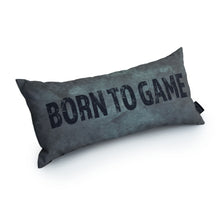 Load image into Gallery viewer, GAMING CUSHION - BORN TO GAME (SILVER)