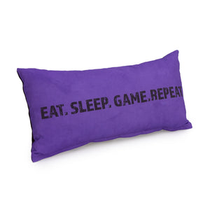 Gaming Cushion - Eat, Sleep, Game. Repeat (Purple)