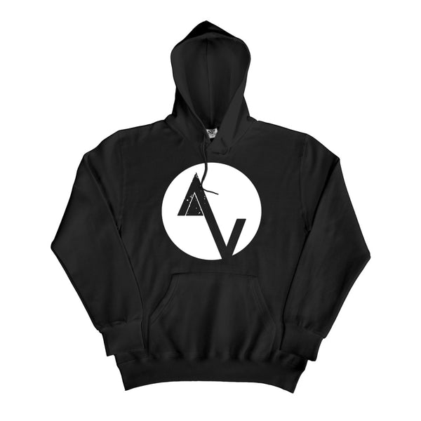 Black Game Over AV Logo Hoodie