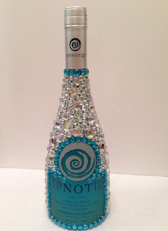 Rhinestone Liquor Bottles Custom Click here for more images