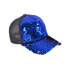 Load image into Gallery viewer, Custom logo Sequin Trucker Caps