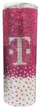 Load image into Gallery viewer, Custom GLASS Rhinestone SKINNY Stainless Steel Travel Mug