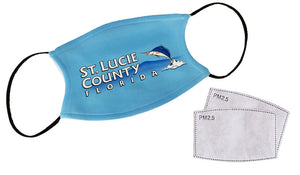Washable/Reusable Replaceable Filter Mask-Comes with 2-filters- FULL COLOR IMPRINT AVAILABLE