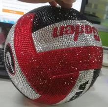 Load image into Gallery viewer, Custom Rhinestone Emblazoned Sport Balls, Helmets and Pucks! click here for more images