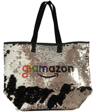Load image into Gallery viewer, NEW! Reverse Sequin Tote Bag with any name and logo