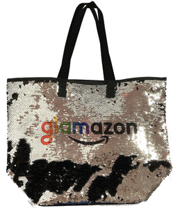 NEW! Reverse Sequin Tote Bag with any name and logo