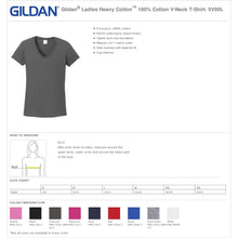 Load image into Gallery viewer, Ladies Custom Rhinestone V-Neck T-Shirt  Item # 5V00L