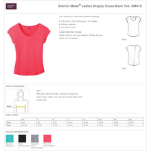 Load image into Gallery viewer, Ladies Custom Rhinestone Drapey Cross-Back T-shirt  Item # DM416