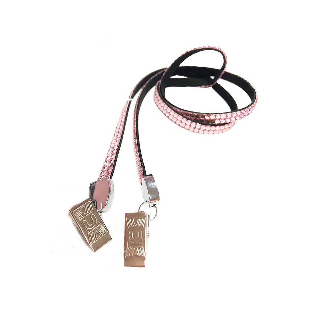 Rhinestone open ended lanyard