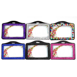 Rhinestone Badge Holder