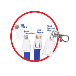 3 in 1 Phone Charging Lanyard for iPhone & Android