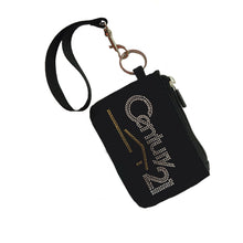 Load image into Gallery viewer, Rhinestone Coin Purse Key Chain with optional Rhinestone Lanyard