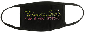 NEW Custom logo rhinestone emblazoned face masks!