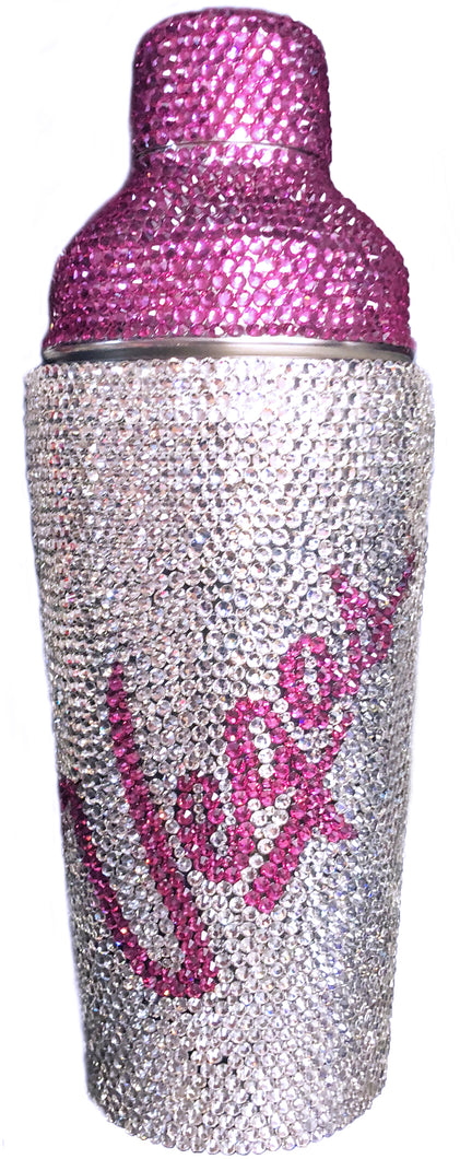 Custom Rhinestone Emblazoned Cocktail Shakers!