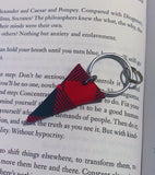 Raw Edge Triangle Keychain