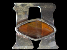 "Conversation starter ""H"" -i button cover with natural fire opal"