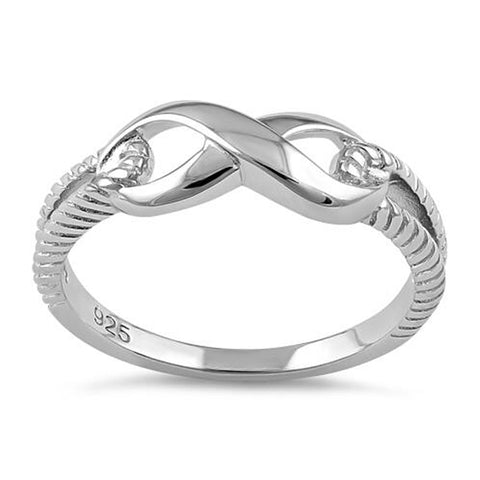 Plain Infinity 925 Sterling Silver Ring