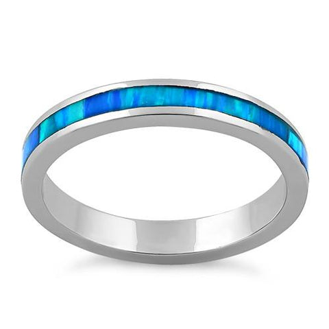Sterling Silver Seamless Lab Opal Ring