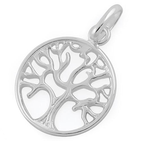 Plain 925 Sterling Silver Tree of Life Pendant