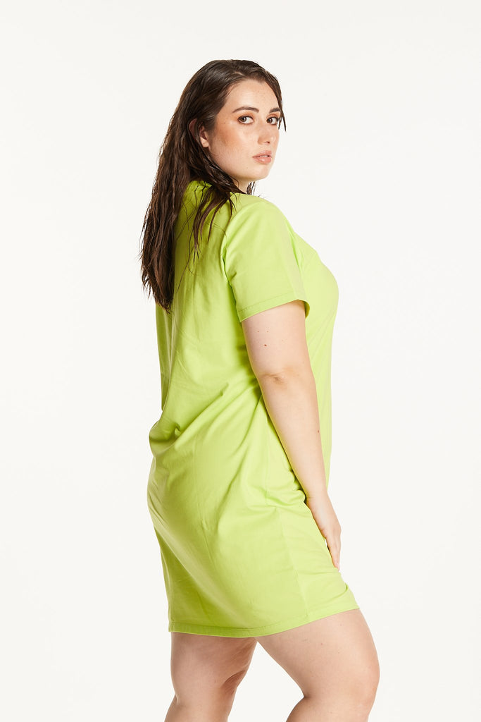 LIME T-SHIRT DRESS