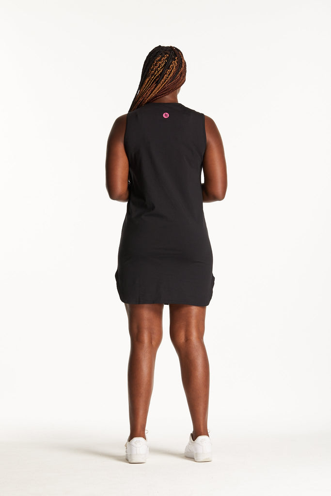 PITCH BLACK SINGLET DRESS