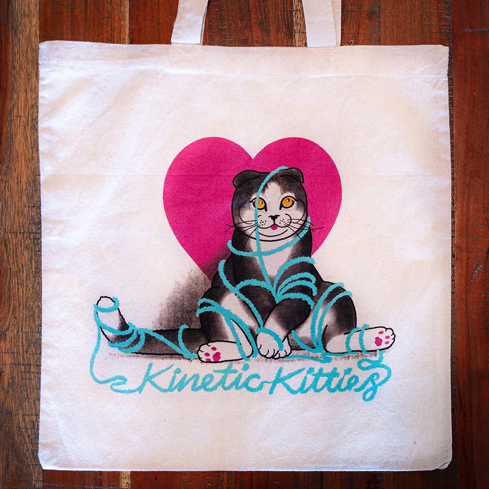 Kinetic Kitties Canvas Tote