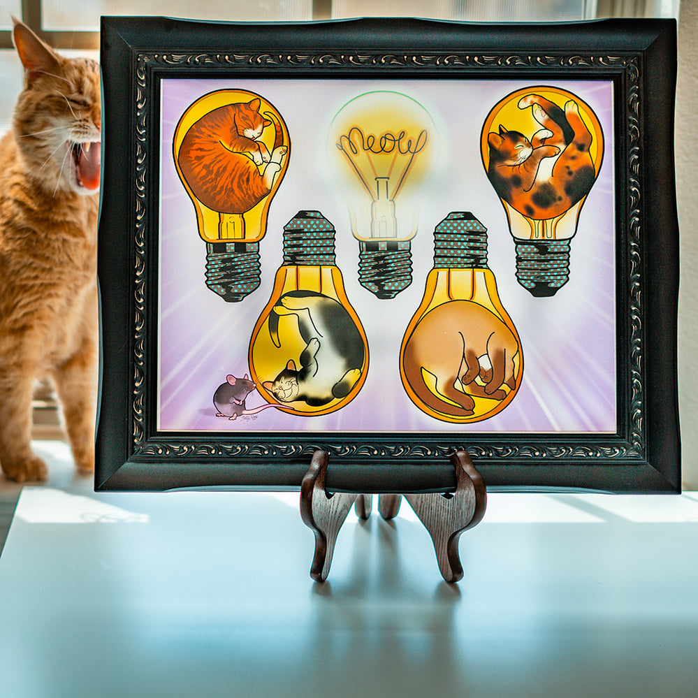 "Cat Bulbs 11"" x 14"""